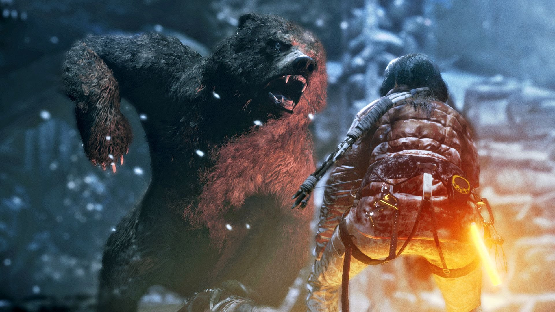 Rise Of The Tomb Raider Bear Fight